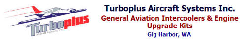 Turboplus Intercoolers for Piper, Seneca, Lance, Saratoga, Cessna, Heat Exchangers, Induction Systems